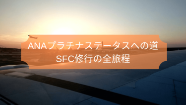 2016年ANA SFC修行の全旅程を公開